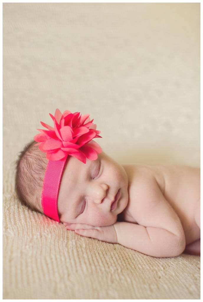 happy baby girl--fort collins newborn photography
