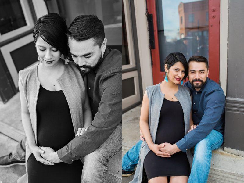 Modern Maternity photos downtown Denver