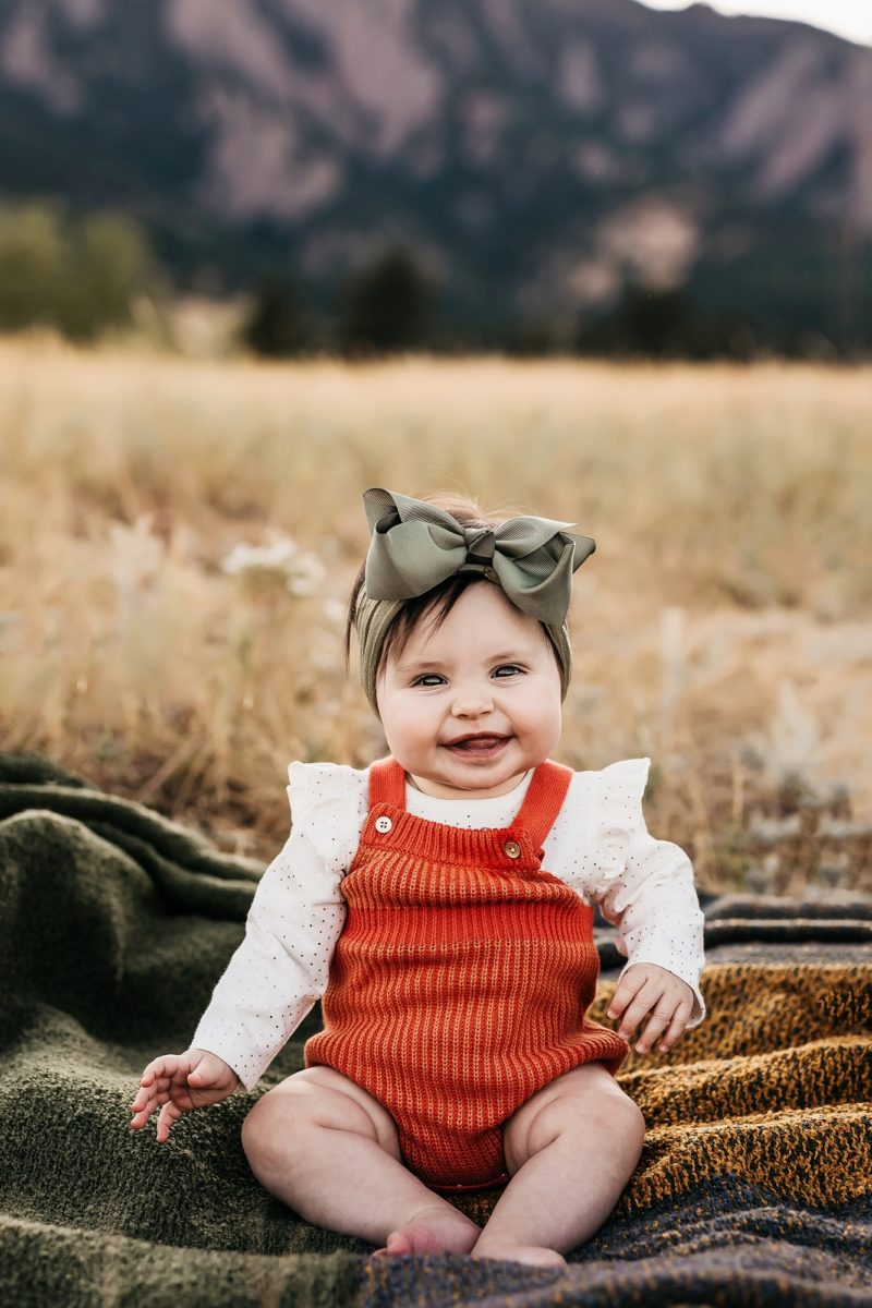 Baby in Girl in Fall outfit