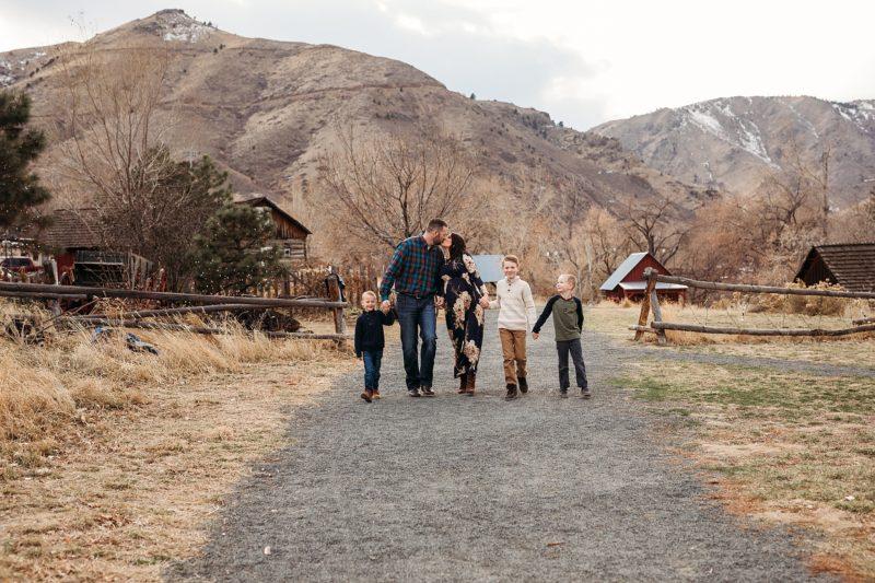 Family running at Clear Creek History Museum