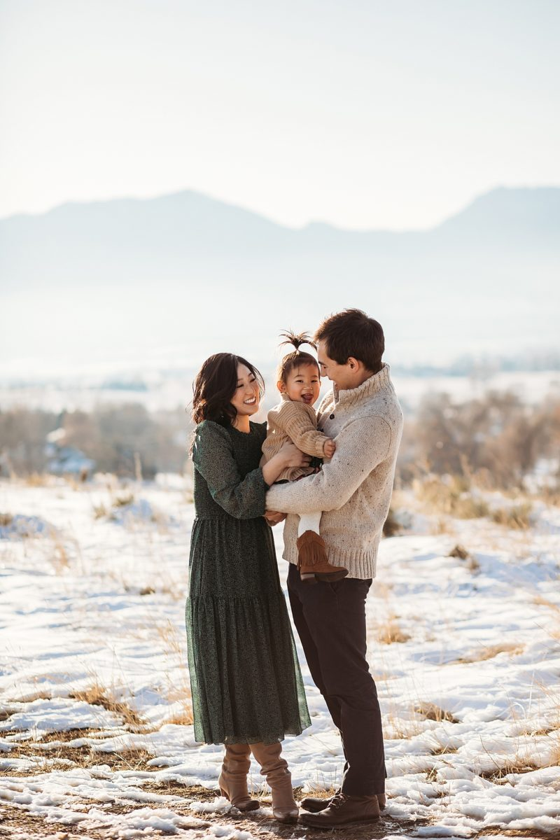 Winter Family Photos in Boulder