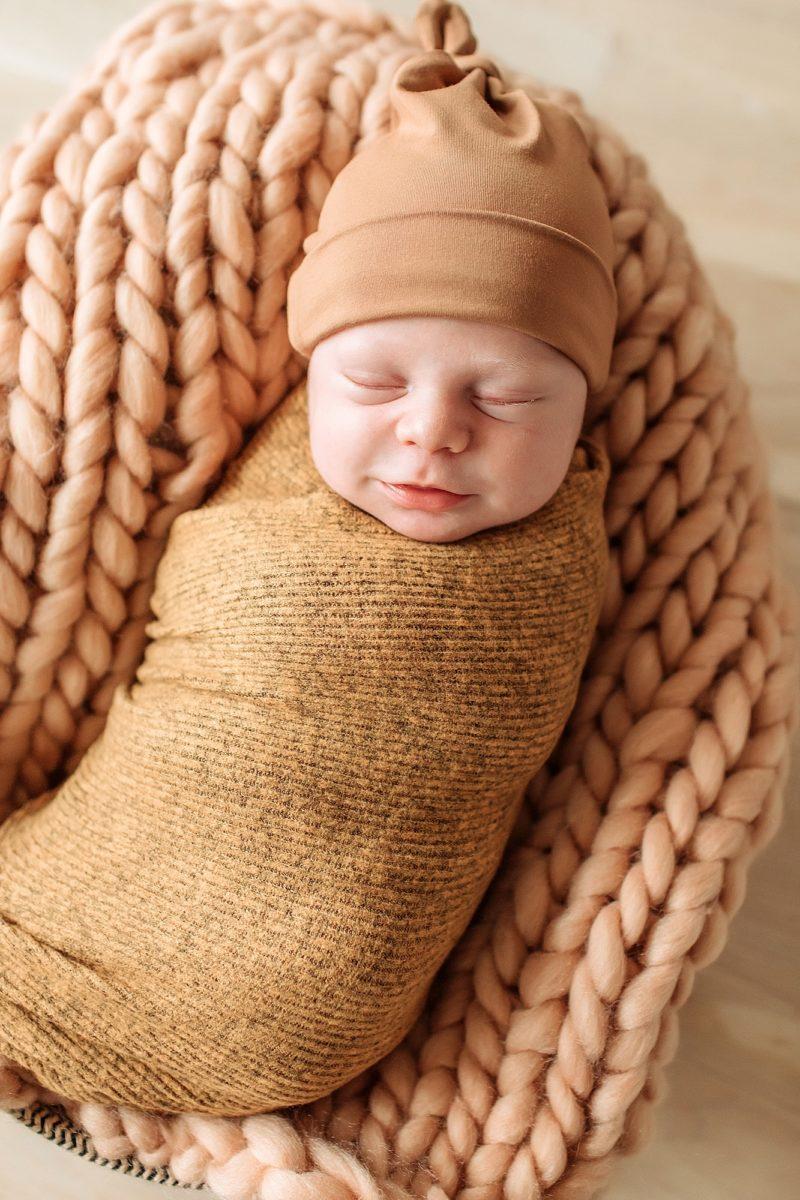 Newborn baby smile | www.julielivermorephotography.com